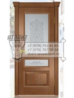 Добрый стиль Шпон Валенсия-2 (дуб коньяк) — двери межкомнатные, Севастополь, цены