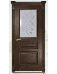 Добрый стиль Шпон Вена-2 (орех темный) — купить межкомнатные двери из массива