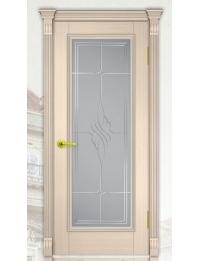 Добрый стиль Шпон Вена 4 (Беленый дуб) — межкомнатные двери, фото