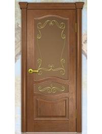 Добрый стиль Шпон Женева (дуб коньяк) — двери деревянные межкомнатные