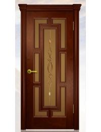 Добрый стиль Шпон Кантри (красное дерево) — межкомнатные двери из дерева