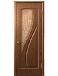 Добрый стиль Шпон Мария (Американский орех) — межкомнатная дверь установленная
