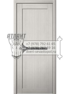 Доступные двери модель Кронос 12 ПВХ (кедр снежный) черный лакобель