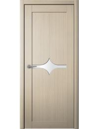 Доступные двери модель Кронос 13 ПВХ (кедр песочный) белый лакобель