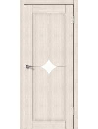 Доступные двери модель Кронос 21 ПВХ (кедр снежный) белый лакобель