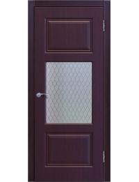 Доступные двери модель Ницца-6 ПО ПВХ (палисандр шоколад)