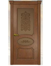 Добрый стиль Шпон Версаль (Дуб Коньяк) — межкомнатные двери из массива дерева