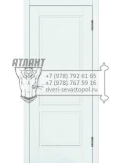 Доступные двери модель  Афродита ПВХ ПГ (белый ясень)