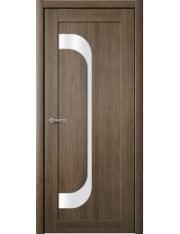 Доступные двери модель Лерр 7 ПВХ (дуб мокко) белый лакобель