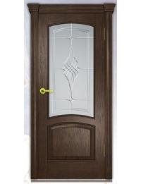 Добрый стиль Шпон Лаура-багет (орех темный) — купить межкомнатные двери цена