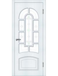 Доступные двери модель Аврора ПО ПВХ (сосна прованс)