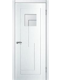 Доступные двери модель  Авангард ПГ ПВХ (ясень белый) — межкомнатные двери от производителя