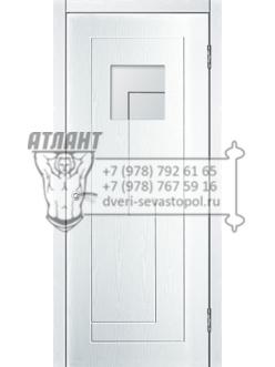 Доступные двери модель  Авангард ПО ПВХ (ясень белый) — межкомнатные двери от производителя