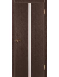 Доступные двери модель Cтиль 4 ПВХ (венге) белый триплекс