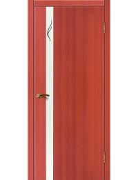 Доступные двери модель Cтиль 8 ПВХ (вишня)