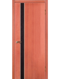 Доступные двери модель Cтиль 9 ПВХ (клен медовый) вставка венге