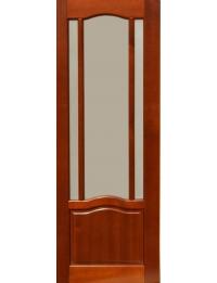 Массив модель Гамма (темный орех) по — межкомнатные двери на заказ