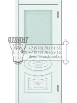 Доступные двери модель  Лидия-2 ПО ПВХ (шагрень белая)