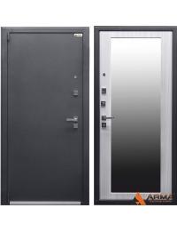 """Входная дверь """"Медь - беленый дуб зеркало"""" Арма"""