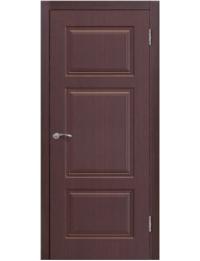 Доступные двери модель Ницца-6 ПГ ПВХ (палисандр шоколад)