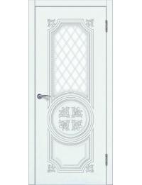 Доступные двери модель Патрисия-2 ПО  ПВХ (ясень белый)