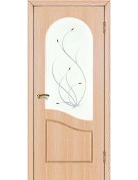 Доступные двери модель  Анастасия ПВХ ПО (ольха сибирская) — межкомнатные двери от производителя