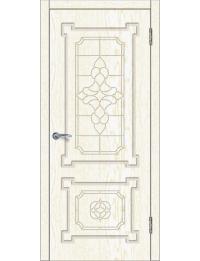 Доступные двери модель  Афина ПГ ПВХ (золото белое)