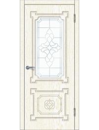 Доступные двери модель  Афина ПО ПВХ (золото белое)