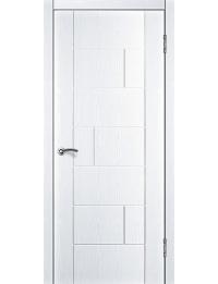 Доступные двери модель Белла ПГ ПВХ (ясень белый)