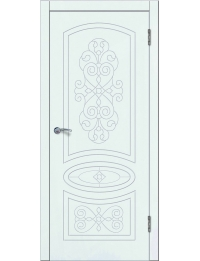 Доступные двери модель  Деметра ПГ ПВХ (шагрень белая)