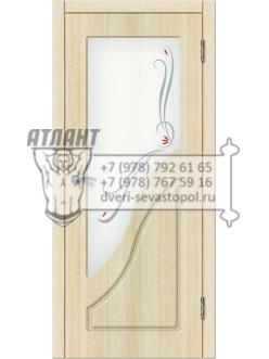 Доступные двери модель  Жасмин ПВХ ПО (дуб беленый)