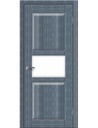 Доступные двери модель Илона-2 ПО ПВХ (кедр сильвер)