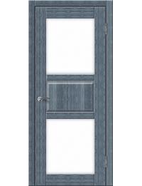 Доступные двери модель Илона-3 ПО ПВХ (кедр сильвер)