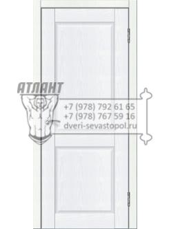 Доступные двери модель Илона ПГ ПВХ (белый ясень)