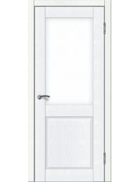 Доступные двери модель Илона ПО ПВХ (белый ясень)