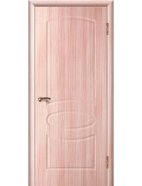 Доступные двери модель Каролина ПГ ПВХ (беленый дуб)