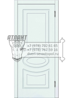 Доступные двери модель  Лидия ПГ ПВХ (шагрень белая)