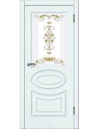 Доступные двери модель  Лидия ПО ПВХ (шагрень белая)