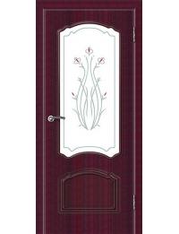 Доступные двери модель Натали шик ПО ПВХ (бордо)