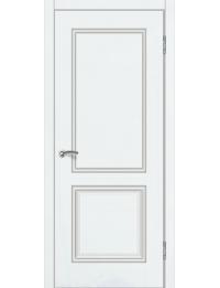 Доступные двери модель  Ницца-1 ПГ ПВХ (шагрень белая)