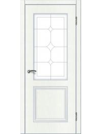 Доступные двери модель  Ницца-1 ПО ПВХ (ясень белый)