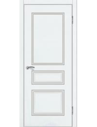 Доступные двери модель  Ницца-2 ПГ ПВХ (шагрень белая)