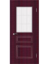 Доступные двери модель  Ницца-2 ПО ПВХ (бордо)