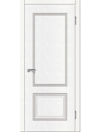 Доступные двери модель  Ницца-3 ПГ ПВХ (ясень белый)