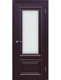 Доступные двери модель Ницца-5 ПО ПВХ (палисандр шоколад)