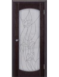 Доступные двери модель Париж 2 ПО ПВХ (мелинга черная)