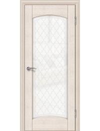 Доступные двери модель Париж 3 ПО ПВХ (кедр снежный)