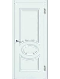 Доступные двери модель Патрисия-3 ПГ  ПВХ (шагрень белая)