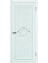 Доступные двери модель Патрисия-4 ПГ  ПВХ (шагрень белая)