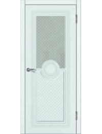 Доступные двери модель Патрисия-4 ПО ПВХ (шагрень белая)